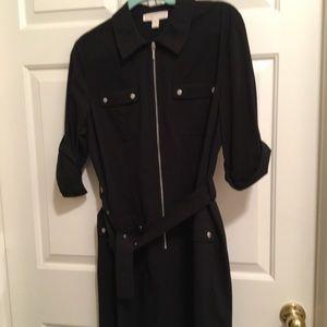 👗NWOT AUTHENTIC MICHAEL KORS BLACK/SILVER DRESS